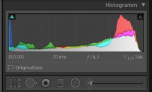 Histogramm in Lightroom