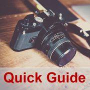 In diesem Quick Guide erkläre ich die Grundlagen der Fotografie